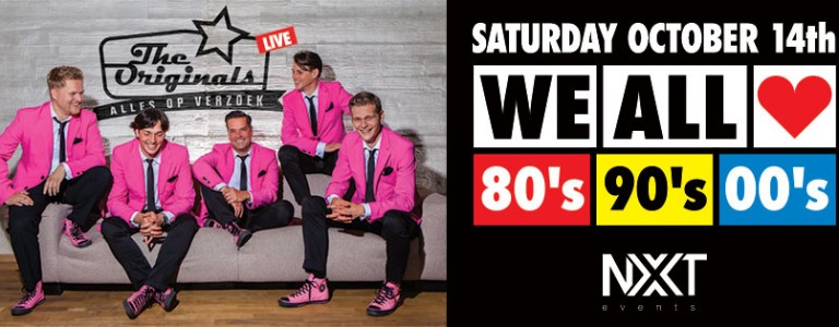 14 oktober 2017: We All Love 80s, 90s, 00s met The Originals, NXT events Gemert