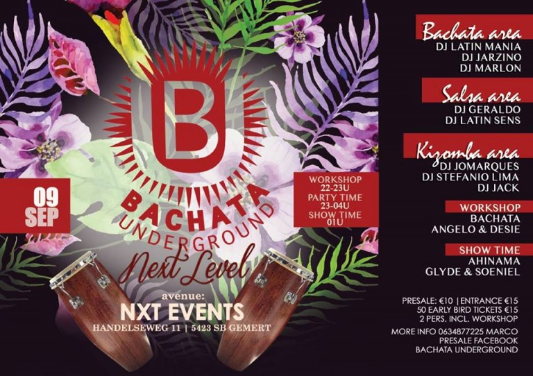 Bachata Next Level, Bachata, Kizomba, Salsa, NXT events, NXT Gemert, Bachata Gemert