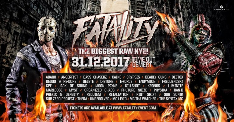 Fatality, biggest raw nye, new years eve, hardstyle, hardcore, time out gemert