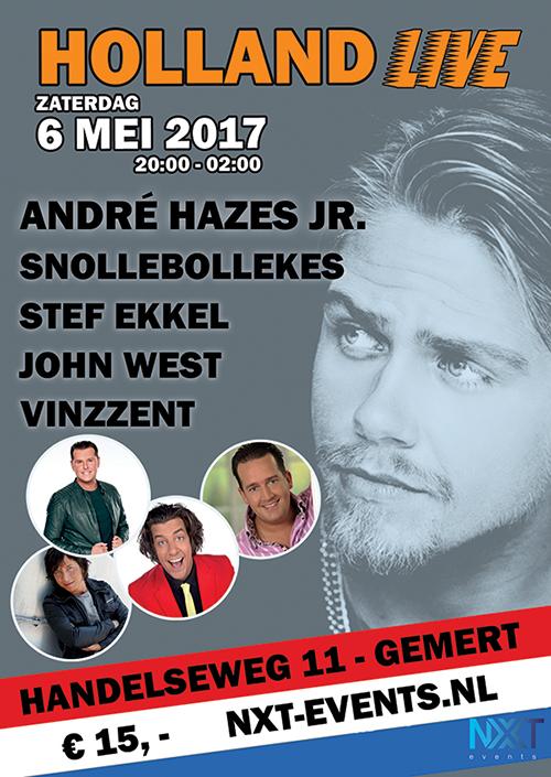 Holland Live, andré hazes jr, 6 mei 2017, nxt events gemert