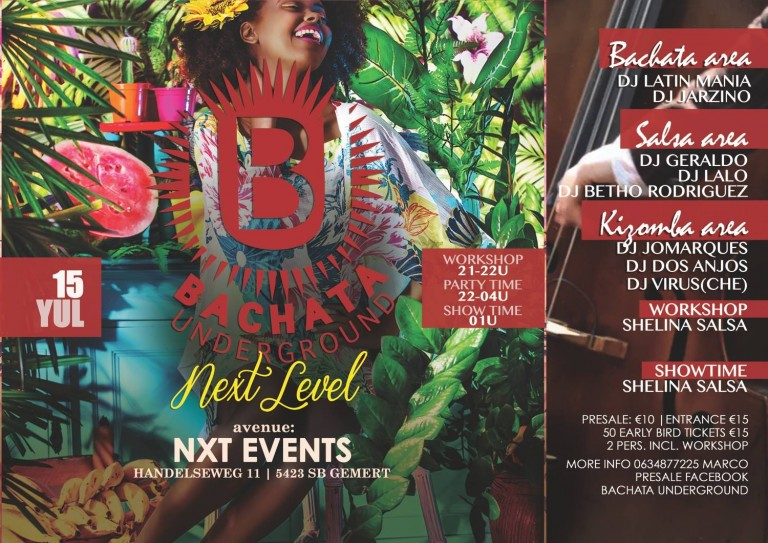 Bachata Underground NXT level, Time Out NXT, NXT events Gemert