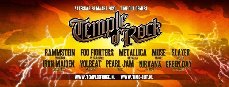 Eventbanner Temple of Rock 2020 NXT Events Gemert