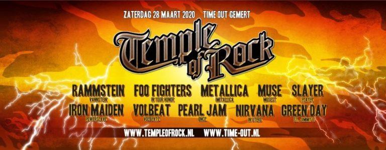 Eventbanner Temple of Rock 2020 NXT Events Gemert