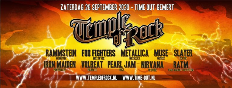 Temple of rock nieuwe datum 26-9